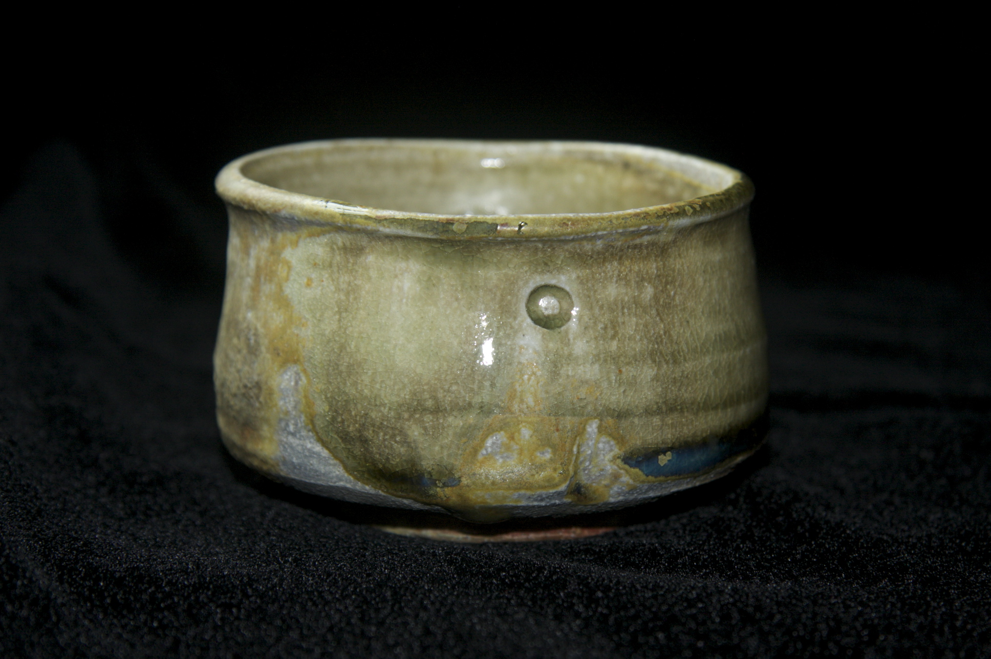 Wood-fired in a noborigama kiln for 30 hours, glazed with korean celadon